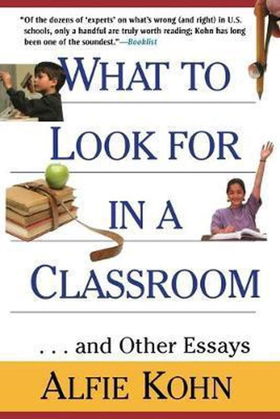 Boekcover: What To Look For in A Classroom